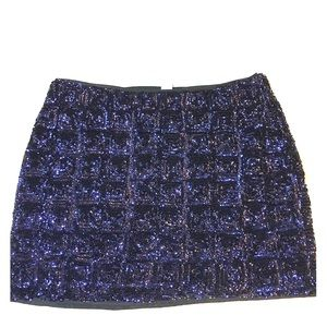 NWT H&M dark blue sequin mini skirt.